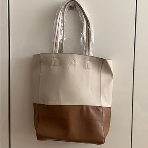 Beige & Taupe Tote Bag